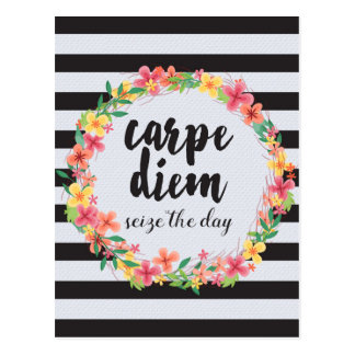 Carpe Diem / Seize The Day Quote Postcard