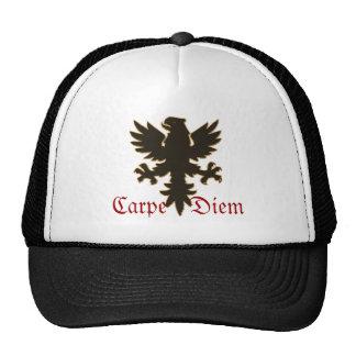 """ Carpe Diem""  seize the day with black eagle hat"