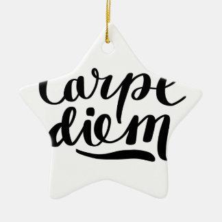 CARPE DIEM shirts, accessories, gifts Ceramic Ornament