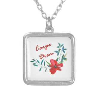 Carpe Diem Silver Plated Necklace