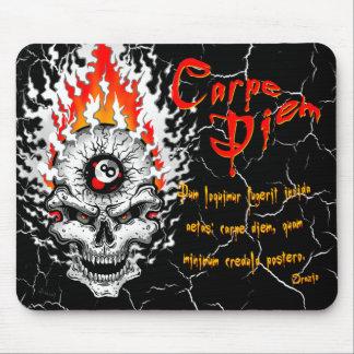 Carpe Diem Skull Mouse Pad