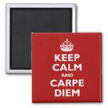 Carpe Diem! Square Magnet