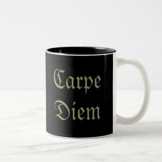 Carpe Diem Two-Tone Coffee Mug