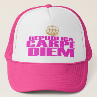 CARPE DIEM WILL BE GIRLS TRUCKER HAT