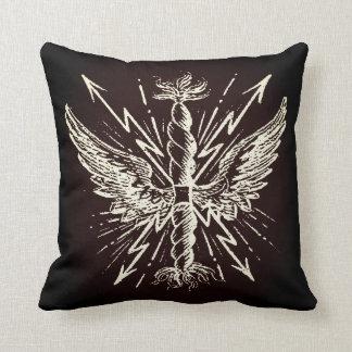 Carpe Diem Wings Lightning Bolts throw Pillows