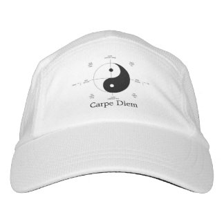 carpe diem ying and yang baseball hat