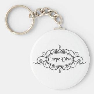 Carpe Diva Logo Keychain