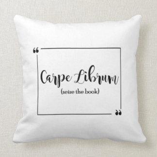 Carpe Librum Throw Pillow