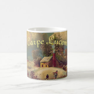 """Carpe Lucem"" Winter Christmas Mug"