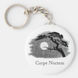 Carpe Noctem Basic Round Button Keychain