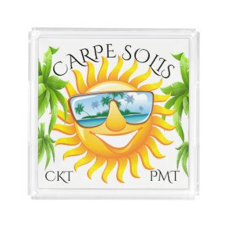 Carpe Solis Fun Sun #holidayZ Acrylic Tray