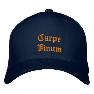 Carpe Vinum (Sieze the Wine) ballcap Embroidered Hat