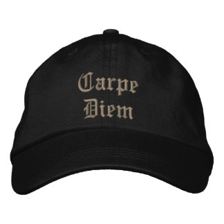 CarpeDiem Embroidered Baseball Caps