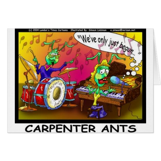 Carpenter Ants Funny Gifts & Collectibles Card