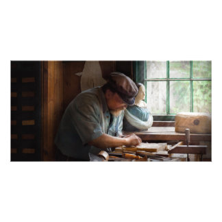 Carpenter - Carving the Figurehead Photo Card