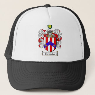 CARPENTER FAMILY CREST -  CARPENTER COAT OF ARMS TRUCKER HAT