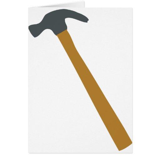 carpenter hammer greeting card