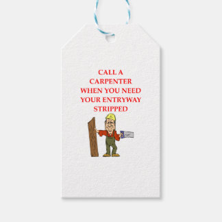CARPENTER PACK OF GIFT TAGS