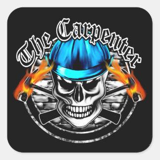 Carpenter Skull Square Sticker