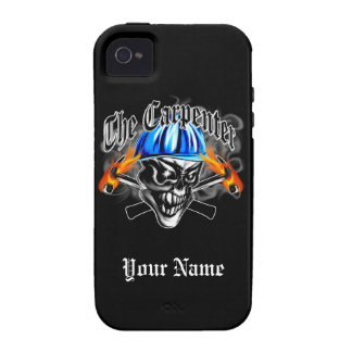 Carpenter Skull with Hard Hat: The Carpenter Vibe iPhone 4 Cover