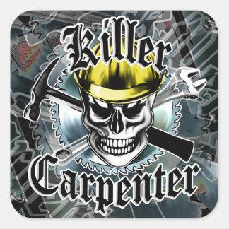 Carpenter Skull with Yellow Hard: Killer Carpenter Stickers