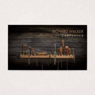 Carpenter Tools  Professional Rustic Wood Business Card