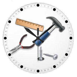 Carpenter Tools Wall Clocks