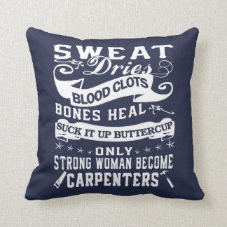 Carpenter Woman Throw Pillow