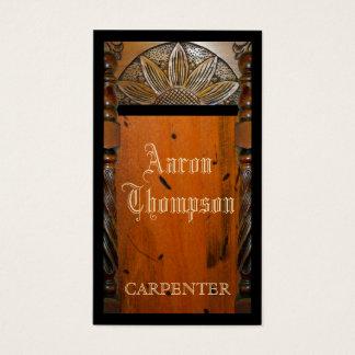 Carpenter Woodwork Business Card
