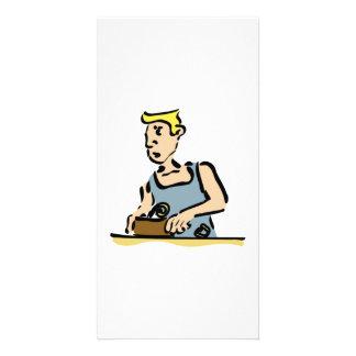 Carpenter Working Photo Card
