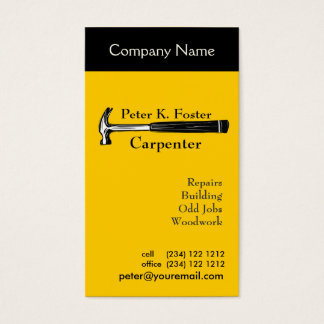 Carpenter's Hammer  Repair Services Business Card