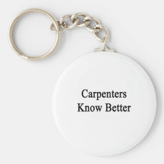 Carpenters Know Better Keychain