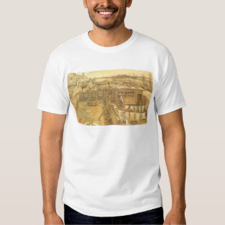 Carpenter's Yard and Laundry by Vincent van Gogh Tshirt