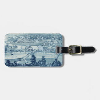 Carpentersville Illinois 1871 City View Luggage Tag