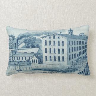 Carpentersville Illinois 1871 Illinois Iron n Bolt Lumbar Pillow