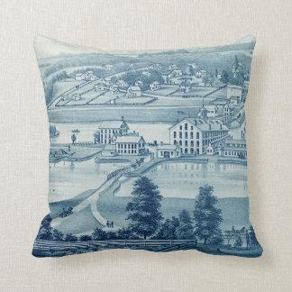Carpentersville Illinois 1871 Illinois Iron n Bolt Throw Pillow