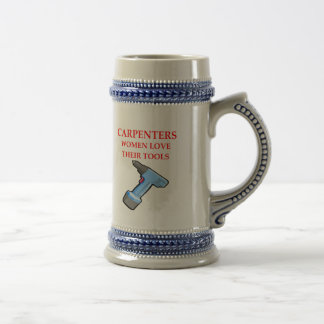 carpentrer beer stein