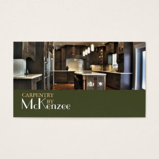 Carpentry, Construction Mill Work, Wood Flooring Business Card