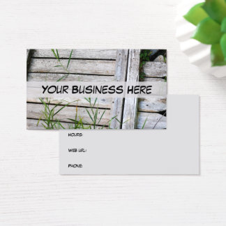 Carpentry Handyman Construction Lawn Care Fence Business Card