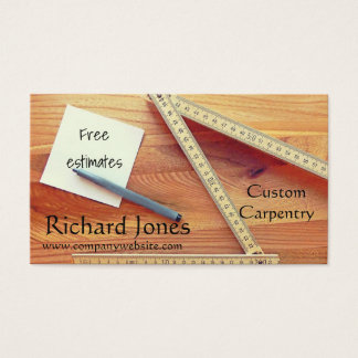 Carpentry, Wood Working and Kitchen Fitter Business Card