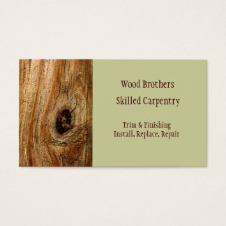Carpentry Woodwork Business Card Template