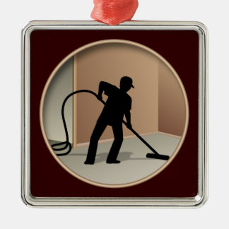 Carpet Cleaning Metal Ornament