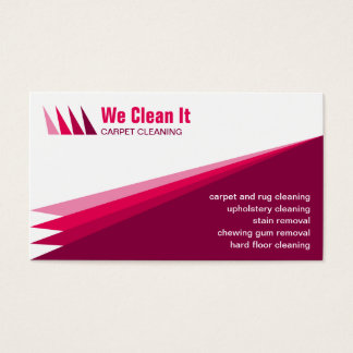 Carpet Cleaning Service Business Card