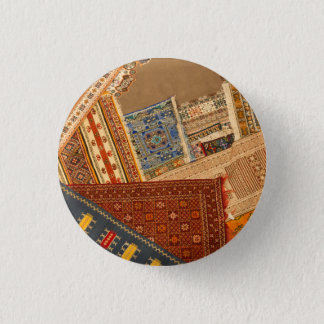 Carpet Collage Close Up 1 Inch Round Button