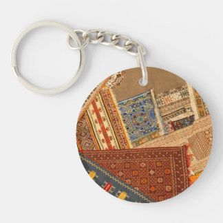Carpet Collage Close Up Keychain