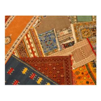 Carpet Collage Close Up Postcard