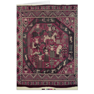 Carpet depicting knights card