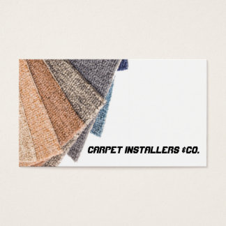 Carpet installer business card