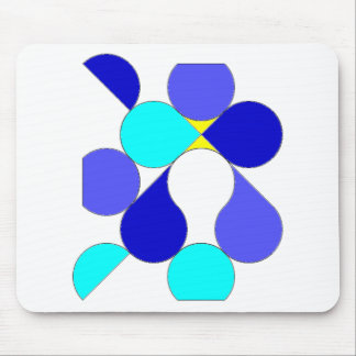 Carpet mouse reason geometrical blue and yellow mouse pad