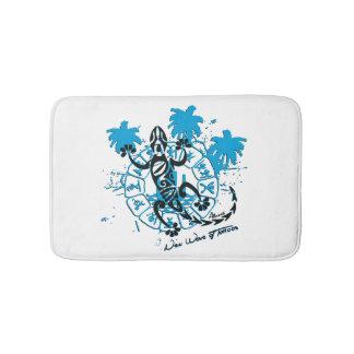 Carpet of white bath horoscope lizard bath mat